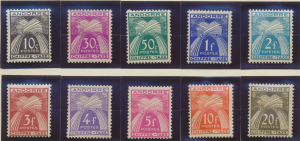 Andorra (French) Stamps Scott #J21 To J31, Mint Hinged, Short Set Missing J25...