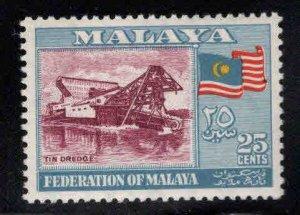 MALAYA Federation Scott 82 Tin Dredge stamp MNH**