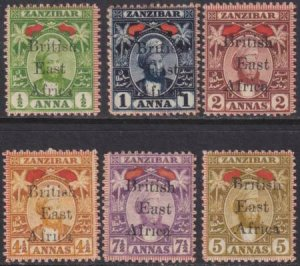 British East Africa 1897 SC 88-93 MLH Set