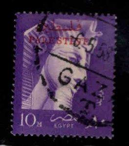 Egypt stamp with Palestine overprint Scott N67 Used stamp