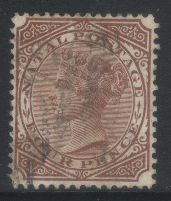 NATAL 1874-1879 CROWN CC SG69 USED CAT £18+