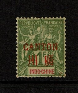 France Offices in Canton SC# 13, Mint Hinged, Hinge Rem, ink dots on back -S9643