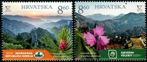 HERRICKSTAMP NEW ISSUES CROATIA Nat'l Parks Joint with Korea