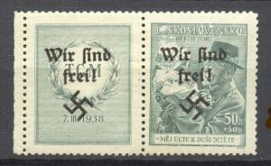 Sudetenland, Rumburg 1938 Mi. # 45 Zf w , MNH,