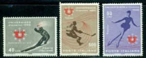 Italy #927-929  Mint  VF NH  Scott $1.05  Winter Sports
