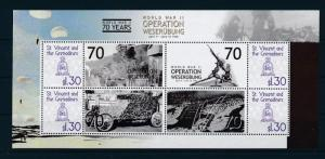 [81125] St.Vincent&Gren 2009 WWII Operation Weserubung Norway Denmark Sheet MNH