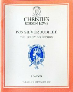 Auction Catalogue 1935 SILVER JUBILEE - The Jerez Collection