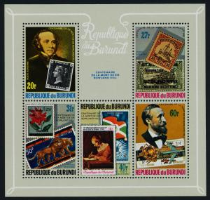 Burundi 565-9, C272 MNH Stamp on Stamp, Rowland Hill, Flag, Aircraft, Ship
