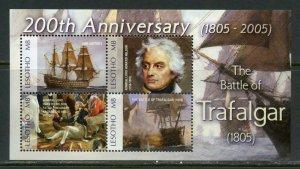 LESOTHO  200th ANNIVERSARY OF THE BATTLE OF TRAFALGAR SHEET  MINT NH