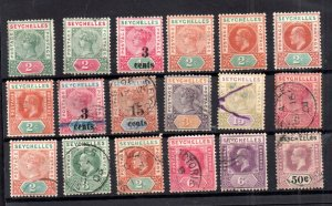 Seychelles QV-KGV mint and used collection WS16595