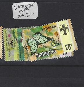 SARAWAK  (P2607B)    BUTTERFLY SG 219-225     MNH