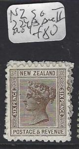 NEW ZEALAND  (P0601B)  QV  6D  SG 224B   DIE II  MOG