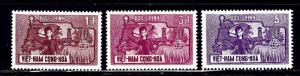 South Vietnam 208-10 MNH 1963 set
