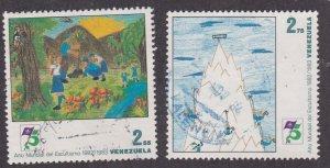 Venezuela # 1314-1315, Scouting Year, Used, 1/3 Cat.