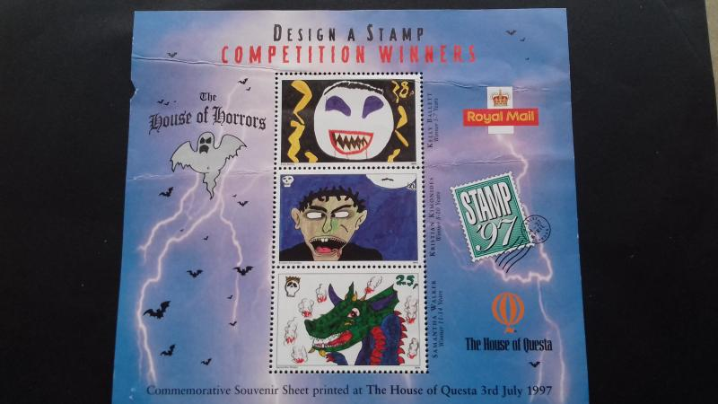Great Britain 1997 Design a Stamp Competition Unused
