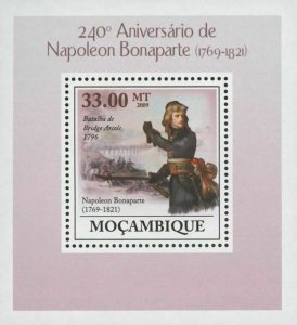 Mozambique Napoleon Bonaparte Arcole Bridge Battle Mini Sov. Sheet MNH