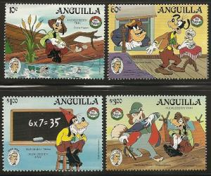 Anguilla 653-6 1985 Christmas Disney set and s.s.