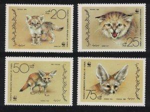 Yemen Sand Cat Fennec Fox Endangered Animals WWF 4v 1989 MNH SG#412-415