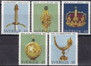 Sweden #899-903  F-VF Unused CV $2.50  (Z6227)