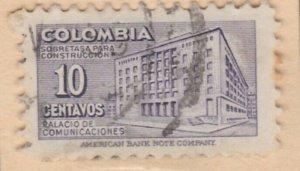Colombia Postal Tax 1948 10c Fine Used A8P55F95