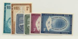 United Nations (New York) Scott #43 To 48 From 1956 - Free U.S. Shipping, Fre...