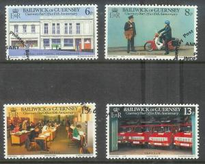 Guernsey 1979 10th anniversary post office set of 4 used, Scott #195-198