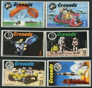 GRENADA Sc#421-426 1971 Apollo 13, 14, 15 Missions Complete Mint OG NH