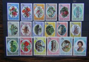 Dominica 1978 Independence set o $10 MNH (1c value slight brown mark on gum)