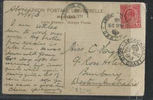 GOLD COAST (PP0103B)  1913  KE 1D ON PPC SEKONDI TO AUSTRALIA