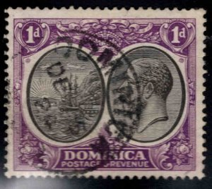 DOMINICA Scott 66 Used surcharged stamp