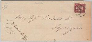 55576 - ITALIA REGNO - STORIA POSTALE :  BUSTA da  GAVARDO  1876