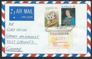 AUSTRALIA 1990 cover to Germany - nice franking - Sydney Pictorial pmk.....47308