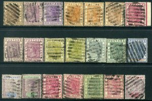Gold Coast 1884-1899 Lot x21 QV Used Postmarks - mixed