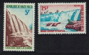 Upper Volta Banfora Waterfalls 2v 1965 MNH SG#159-160