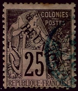 Reunion Sc #24 Used Fine hr SCV$7.25...French Colonies are Hot!