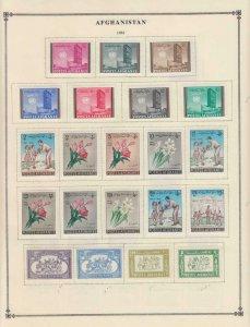 Afghanistan Aden USA Alte Interessante Sammlung auf Album Seiten Z427