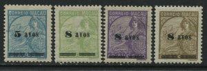 Macao 4 all overprinted 8 avos mint o.g. hinged