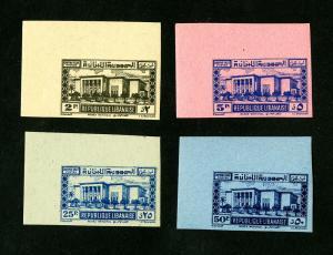 Lebanon Stamps # J47-50 Superb OG NHJ Imperforate