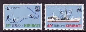 Kiribati-Sc#468-9-Unused NH set-Ships-Telecommunications-1985-