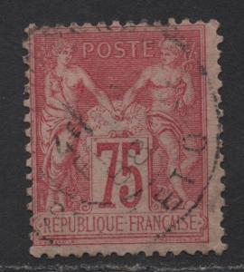 $France Sc#83 used/fine, type II, Cv. $110