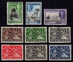 Nyasaland 1938-45 George VI various issues [Unused]