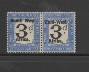 SOUTH WEST AFRICA #J30  1924  3p  POSTAGE DUE    MINT VF LH O.G