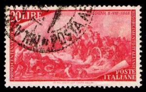 1948 ITALY #503 UPRISING AT PALERMO - USED - VF - CV$13.50 (ESP#1690)