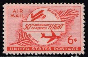 US STAMP #C47 – 1953 6c Airmail Powered Flight  MNH/OG SUPERB