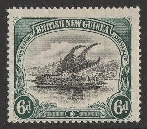 PAPUA : 1901 BNG Lakatoi 6d, vertical wmk, thin paper. Only 175 issued.
