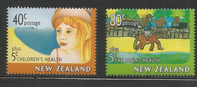 NEW ZEALAND B156-B157  MNH, CHILDREN'S HEALTH