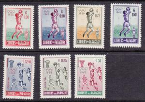 Paraguay # 556-559, C262-264, Olympic Games, Mint LH