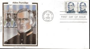 US FDC Scott #1854 Alden Partridge. Colorano Cachet. Free Shipping.