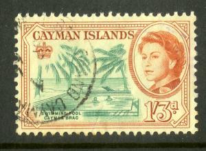 CAYMAN ISLANDS 163 USED SCV $3.50 BIN $1.50 SWIMMING POOL