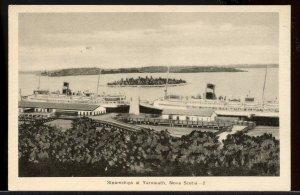 Steamship at Yarmouth   N.S. Nova Scotia post card Canada